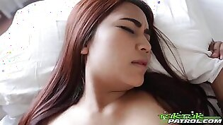 Pretty hot Thai girl Bell gets her pussy licked and slammed