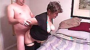 Poor anal abused granny