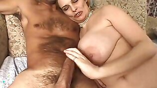 Mother with huge boobs gets her brother in law cum