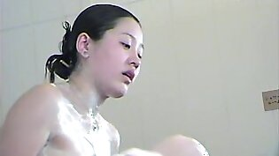 Hairy amateur cunts of Asians are washed in the shower dvd 03017