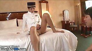Jav hotel maid in pantyhose fucked by horny boss