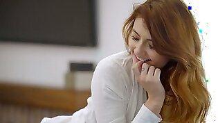 Stunning babe Adria Rae is making love with her handsome boyfriend