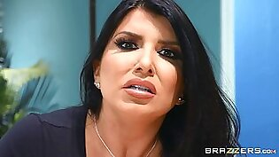 sexy secretary Romi Rain adores hard fuck with her colleague in her office