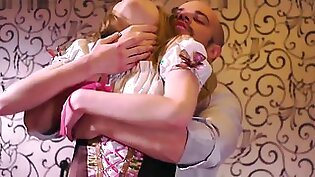 Virgin tight pussy for Jean-Marie Corda: young russian blonde Adele having her 1st sex