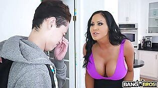 Kinky Brazilian MILFie housewife Sybil Stallon lures young buddy for sex