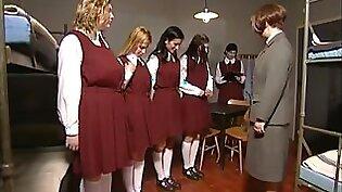 Czech teen gals get their butts whipped