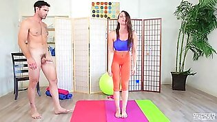 Aidra really likes working out bu the dick riding pleases her more