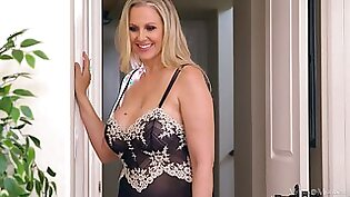 Busty milf Julia Ann is cheating on her husband with sexy nextdoor housewife