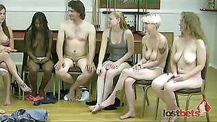 Strip Screw Your Neighbor with 6 girls and 3 guys