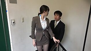 SW-301 It Is Visible Underwear Was Sheer Black Pantyhose From At Department