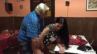 Young Czech slut fucks old grandpa!