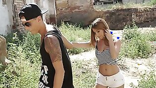 Crazy outdoor extreme sex with slutty red haired teen Brenda Boop