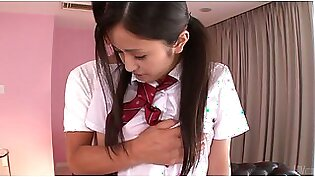 Perverted teacher undress shy Japanese college gal Ai Wakana