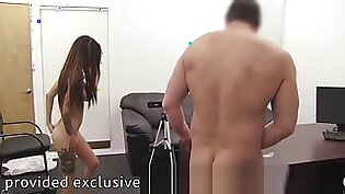 FULL VID! Busty Afton Ass Fucked, Anal Creampie on Casting Couch