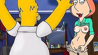 Simpsons and Griffins swingers orgy